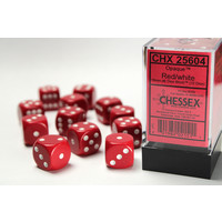 DICE SET 16mm OPAQUE: RED