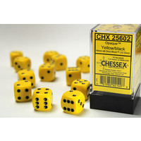 DICE SET 16mm OPAQUE YELLOW