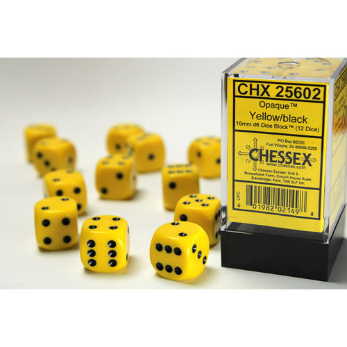 Chessex DICE SET 16mm OPAQUE YELLOW