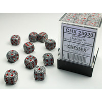 DICE SET 12mm SPECKLED GRANITE
