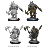 MINIS: D&D: HALF-ORC MALE BARBARIAN