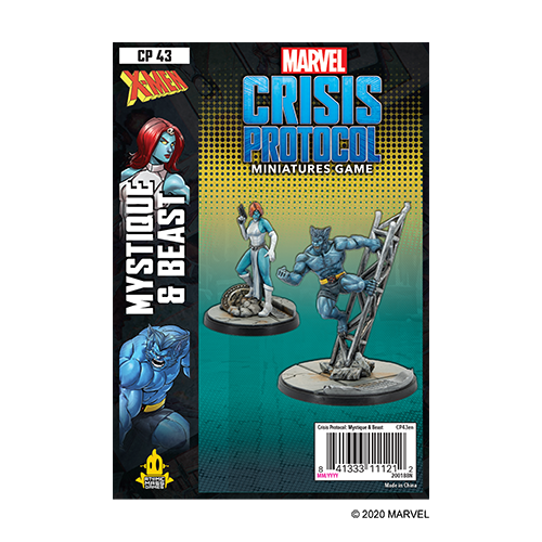 Asmodee MARVEL CRISIS PROTOCOL: BEAST & MYSTIQUE