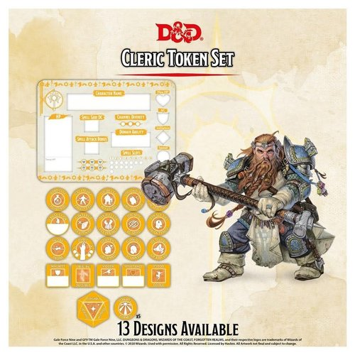 Gale Force Nine D&D 5E: CHARACTER TOKENS - CLERIC