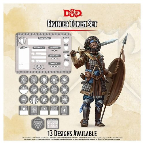 Gale Force Nine D&D 5E: CHARACTER TOKENS - FIGHTER