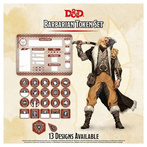 Gale Force Nine D&D 5E: CHARACTER TOKENS - BARBARIAN