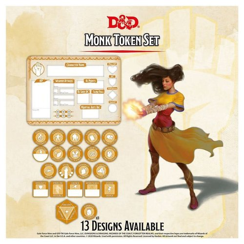 Gale Force Nine D&D 5E: CHARACTER TOKENS - MONK