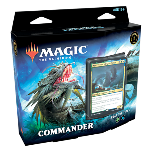 Wizards of the Coast MTG: COMMANDERS LEGENDS - REAP THE TIDES - COMMANDER DECK