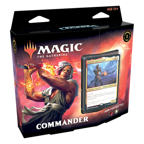 Wizards of the Coast MTG: COMMANDERS LEGENDS - ARM FOR BATTLE - COMMANDER DECK
