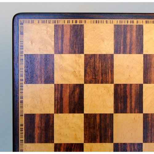 "Worldwise Imports CHESS BOARD 17.25"" EBONY & MAPLE w/ 2"" SQ"