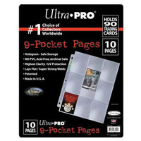 BINDER: 9 POCKET: LOOSE PAGES 10 PACK - PLATINUM