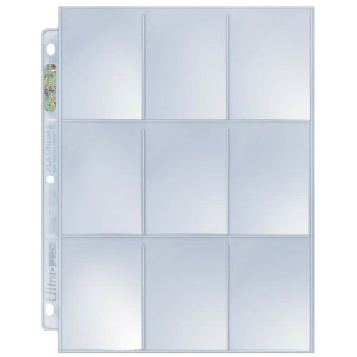 Ultra Pro International BINDER: 9 POCKET: LOOSE PAGES 10 PACK - PLATINUM