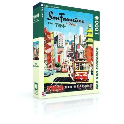 NEW YORK PUZZLE COMPANY NY1000 T.W.A. SAN FRANCISCO