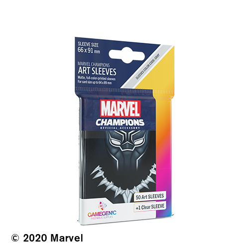 GAMEGENIC DECK PROTECTOR: MARVEL CHAMPIONS - BLACK PANTHER ART SLEEVES (50)