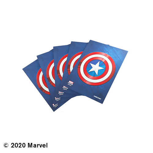GAMEGENIC DECK PROTECTOR: MARVEL CHAMPIONS - CAPTAIN AMERICA ART SLEEVES (50)
