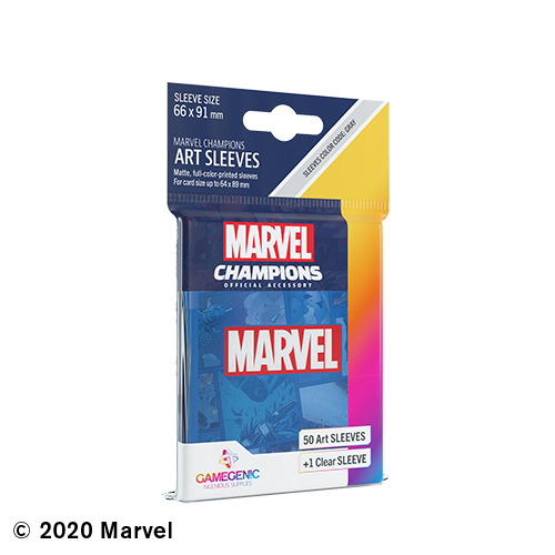 GAMEGENIC DECK PROTECTOR: MARVEL CHAMPIONS -  BLUE ART SLEEVES (50)