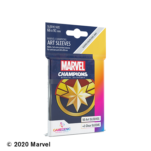 GAMEGENIC DECK PROTECTOR: MARVEL CHAMPIONS -  CAPTAIN MARVEL ART SLEEVES (50)