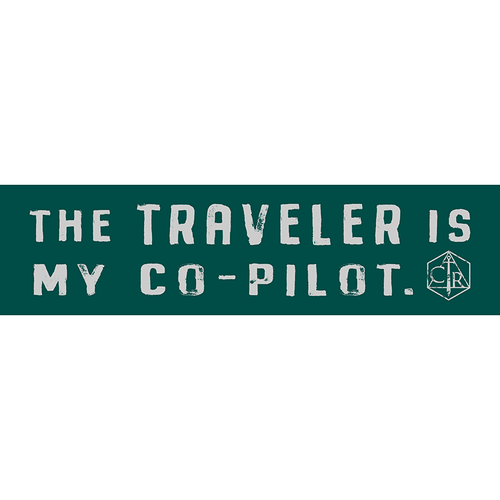 Darrington Press / Critical Role CRITICAL ROLE THE TRAVELER IS MY CO-PILOT BUMPER STICKER