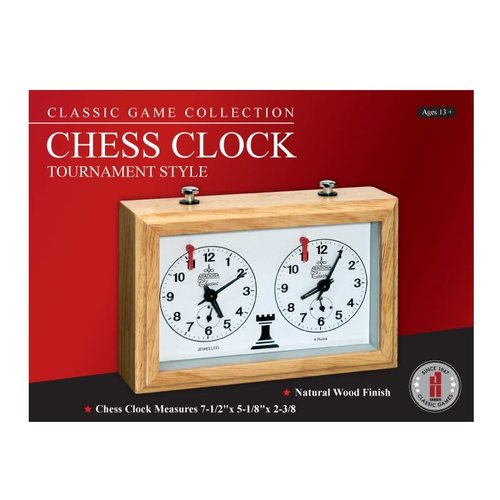 JOHN HANSEN COMPANY CHESS CLOCK TOURNAMENT STYLE ANALOG WOOD