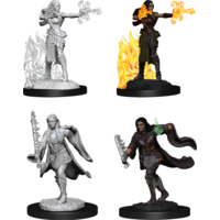 MINIS: D&D: FEMALE WARLOCK + SORCERER  MULTICLASS