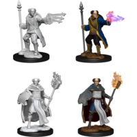 MINIS: D&D: MALE CLERIC + WIZARD  MULTICLASS