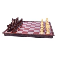 "CHESS SET 2.5"" 'WOODY' FOLDING MAGNETIC on 11"" BOARD"