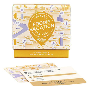 Ridley's Games RIDLEY'S TRAVEL TRIVIA: FOODIE VACATION