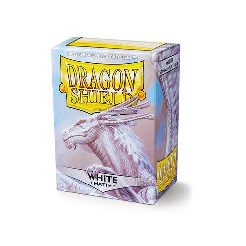 Arcane Tinmen DECK PROTECTOR: DRAGON SHIELDS: MATTE WHITE (100)