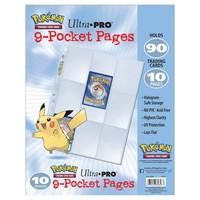 BINDER: 9 POCKET: LOOSE PAGES 10 PACK - POKEMON