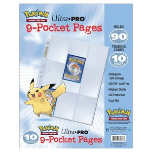 Ultra Pro International BINDER: 9 POCKET: LOOSE PAGES 10 PACK - POKEMON