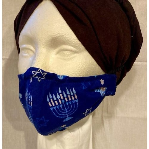OTHER TIMES PRODUCTIONS PROTECTIVE MASK, FABRIC - HANUKKAH (Pattern 1)