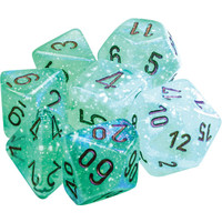 DICE SET 7 BOREALIS: LIGHT GREEN LUMINARY