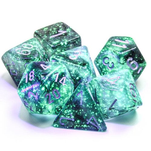 Chessex DICE SET 7 BOREALIS: LIGHT SMOKE LUMINARY