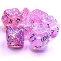 DICE SET 7 BOREALIS: PINK LUMINARY