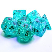 DICE SET 7 BOREALIS: TEAL LUMINARY
