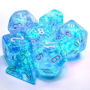 Chessex DICE SET 7 BOREALIS SKY BLUE LUMINARY