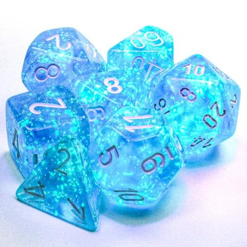 Chessex DICE SET 7 BOREALIS: SKY BLUE LUMINARY