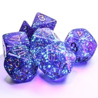 DICE SET 7 BOREALIS: ROYAL PURPLE LUMINARY