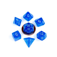 DICE SET 7 MINI STARDUST: BLUE