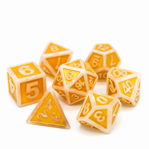 Die Hard Dice POLYMER DICE SET 7 RAISED SATYR