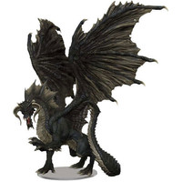 MINIS: D&D: ICONS OF THE REALMS: ADULT BLACK DRAGON - PREMIUM FIGURE