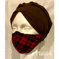 PROTECTIVE MASK, FABRIC - CHRISTMAS (Plaid Asst)