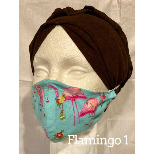 OTHER TIMES PRODUCTIONS PROTECTIVE MASK, FABRIC - CHRISTMAS (Flamingo Asst)