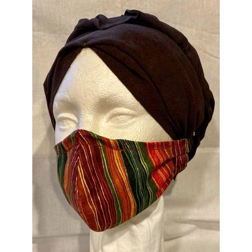 OTHER TIMES PRODUCTIONS PROTECTIVE MASK, FABRIC - KWANZAA-INSPIRED