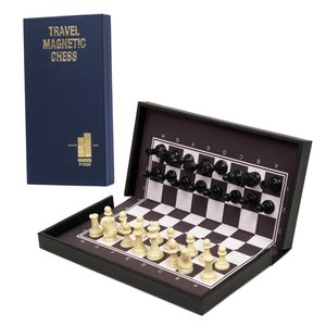 "JOHN HANSEN COMPANY CHESS SET 1.5"" TRAVEL FOLDING MAGNETIC on 6.5"" BOARD"