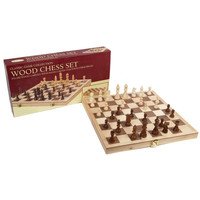 "CHESS SET 3"" DELUXE WOOD on 15"" BOARD"