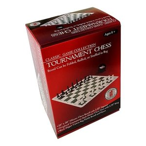 "JOHN HANSEN COMPANY CHESS SET 3.75"" TOURNAMENT on 20"" SILICONE BOARD"
