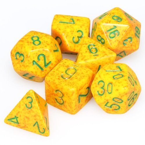 Chessex DICE SET 7 SPECKLED: LOTUS