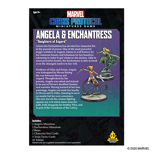 Atomic Mass Games MARVEL CRISIS PROTOCOL: ANGELA & ENCHANTRESS