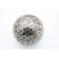 DICE D100 METAL SILVER 45MM