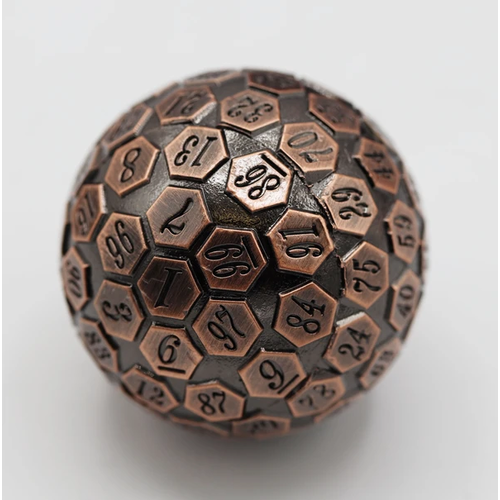 Foam Brain Games DICE D100 METAL COPPER 45MM